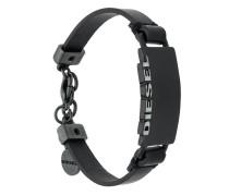 logo leather bracelet