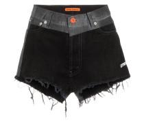 Jeans-Shorts mit Kontrastbund