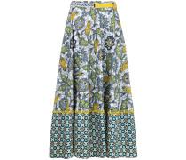 high waist print skirt