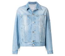 Jeansjacke mit Perlenfransen