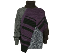 Oversized-Pullover im Patchwork-Look
