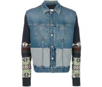 'Navajo' Jeansjacke mit Kontrastärmeln