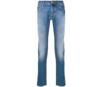 Schmale Jeans mit Stone-Wash-Effekt