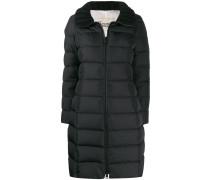 Mantel mit geripptem Kragen