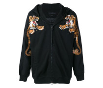 Kapuzenpullover mit Tiger-Patch