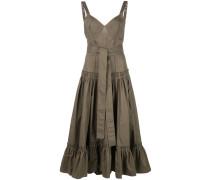 Gestuftes Popeline-Kleid