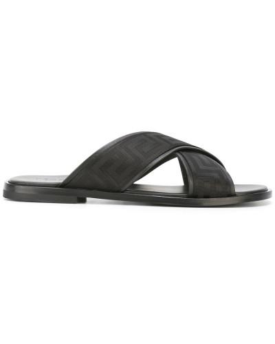 'Greek' Sandalen mit überkreuzten Riemen