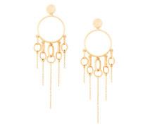 jumping charm hoop earrings