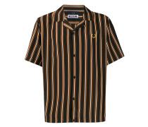 Miles Kane Stripe Print Bowling Shirt