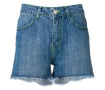 Jeans-Shorts mit Kontrastnähten