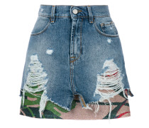 ripped effect skirt