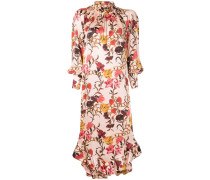 ruffle hem floral dress