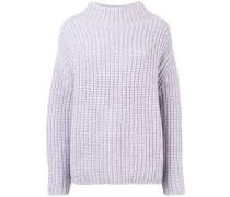 Gerippter Oversized-Pullover