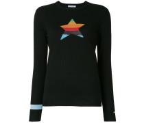 Intarsien-Pullover mit Sternmotiv