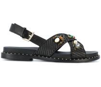 'Maya' Sandalen mit Bastriemen
