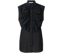 frilled bib sleeveless blouse