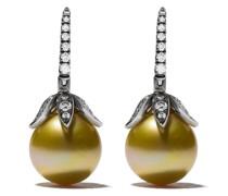 18kt Weißgoldohrringe mit Perlen