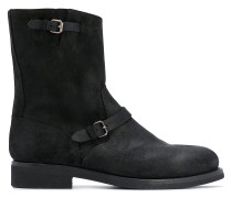 buckle-detail ankle boots