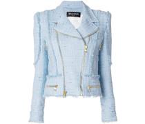 tweed biker jacket