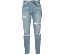 Karolina distressed crop jeans