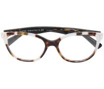 Oversized-Brille in Schildpattoptik