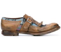 Loafer mit kariertem Einsatz