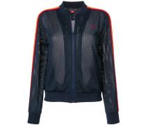 stripes mesh jacket