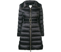 padded fitted coat