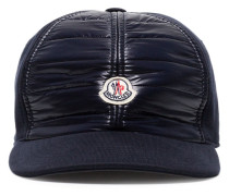 navy blue logo patch cotton cap