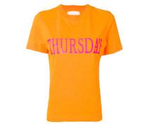 "T-Shirt mit ""Thursday""-Print"