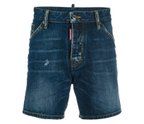 stonewash effect denim shorts