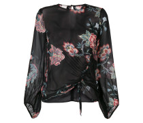 Florale 'Ancora' Bluse mit Raffung