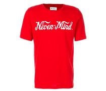 """T-Shirt mit """"Never-Mind""""-Print"""