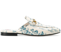 Princetown rose print slippers
