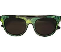 Sonnenbrille mit tropischem Print