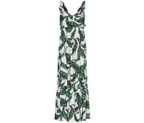 'Liya' Kleid mit Blatt-Print