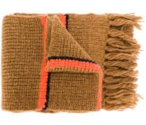 Gerippter Schal mit Streifen