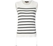 sleeveless striped jumper