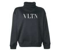 'VLTN' Sweatshirt mit Rollkragen