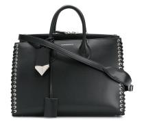 Handtasche mit gewebtem Detail