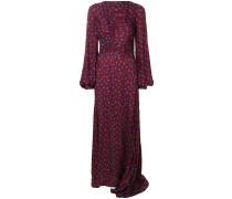 polka dot ruched maxi dress