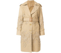 baroque applique trench coat