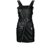 zipped pinafore dress