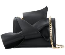 knot front chain strap shoulder bag