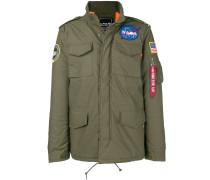 Military-Jacke mit NASA-Patch