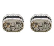 Manschettenknöpfe mit Uhrwerk