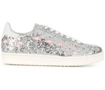 Flamingo glittered sneakers
