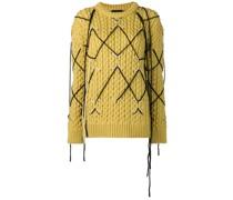 Klassischer Intarsien-Pullover