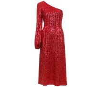 Mittellanges One-Shoulder-Kleid