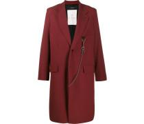 Einreihiger Mantel mit Zierkette